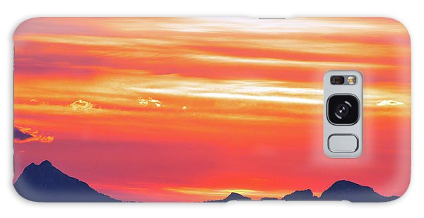 Red Sunrise Galaxy Case