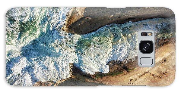 Rocks And Waves Galaxy Case