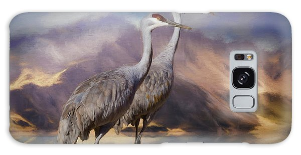 Rocky Mountain Sandhill Cranes Galaxy Case