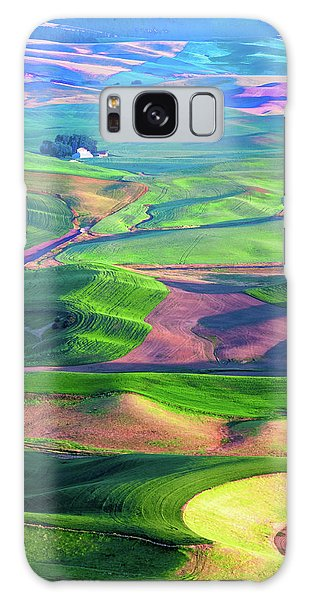 Green Hills Of The Palouse Galaxy Case by James Hammond