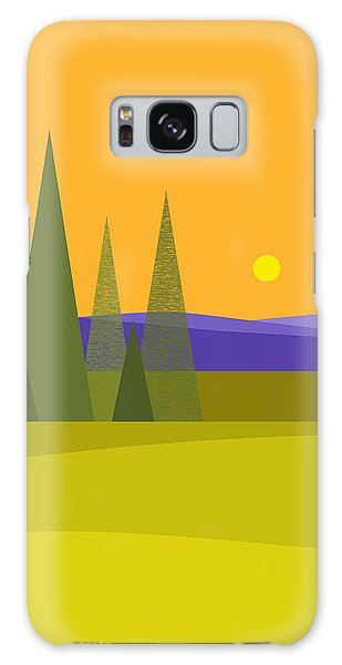 Rolling Hills Galaxy Case by Val Arie