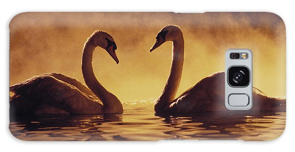 Romantic African Swans Galaxy Case