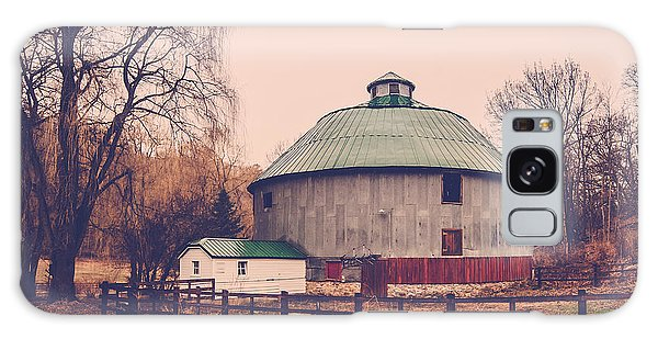 Round Barn Galaxy Case by Dan Traun