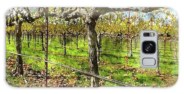 Rows Of Grapevines In Napa Valley Caliofnia Galaxy Case