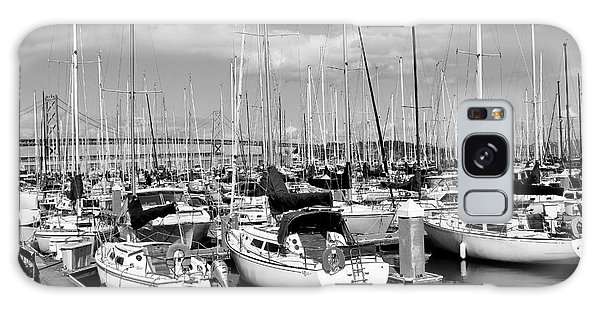 Docked Boats Galaxy Case - Sail Boats At San Francisco China Basin Pier 42 With The Bay Bridge In The Background . 7d7666 by Wingsdomain Art and Photography