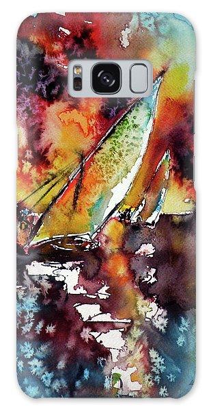 Sailboats At The Sunshine Galaxy Case by Kovacs Anna Brigitta