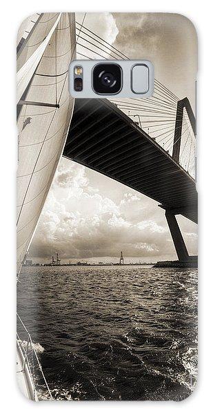 Sailing On The Charleston Harbor Beneteau Sailboat Galaxy Case