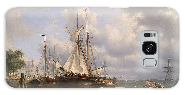 Sailing Ships In The Harbor Galaxy Case by Anthonie Waldorp