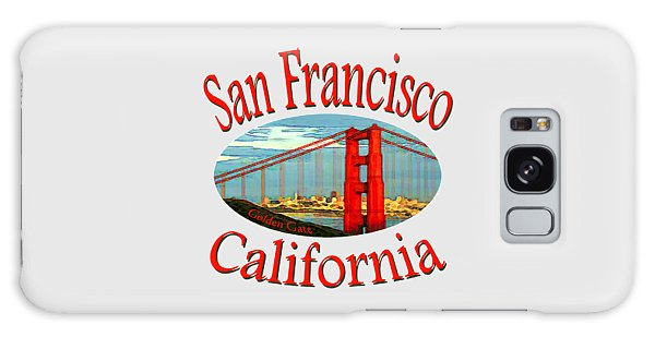 San Francisco California - Tshirt Design Galaxy Case by Art America Gallery Peter Potter