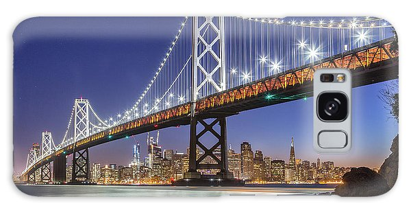 San Francisco City Lights Galaxy Case by JR Photography