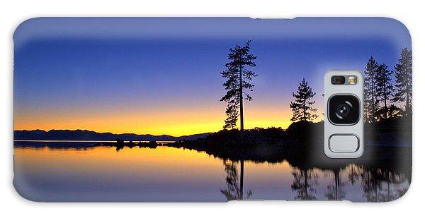 Sand Harbor Sunset Galaxy Case