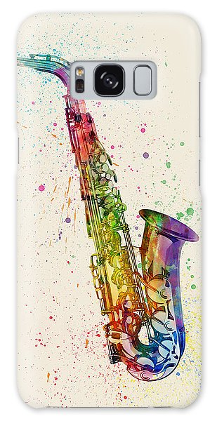 Saxophone Galaxy Case - Saxophone Abstract Watercolor by Michael Tompsett