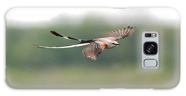 Scissor-tailed Flycatcher In Flight Galaxy Case