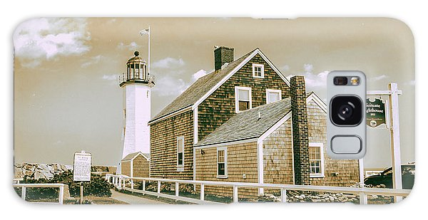 Scituate Lighthouse In Scituate, Ma Galaxy Case by Peter Ciro