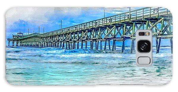 Sea Blue - Cherry Grove Pier Galaxy Case