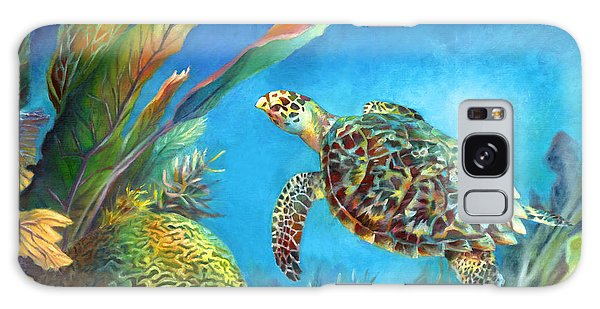 Sea Escape Iv - Hawksbill Turtle Flying Free Galaxy Case by Nancy Tilles