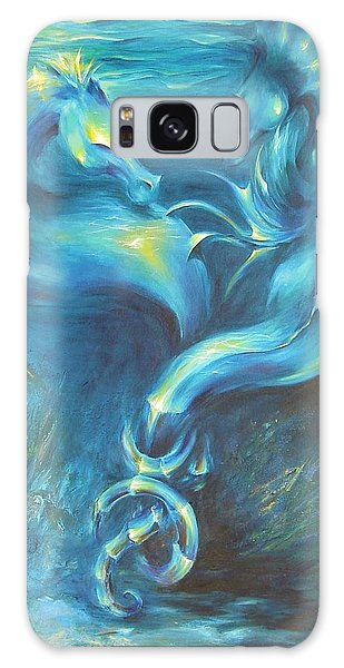 Seahorses In Love 3 Galaxy Case by Dina Dargo