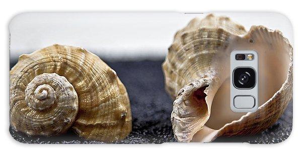 Sand Galaxy Case - Seashells On Black Sand by Joana Kruse