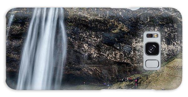 Galaxy Case featuring the photograph Seljalandsfoss Waterfalls View In Winter, Iceland by Pradeep Raja PRINTS