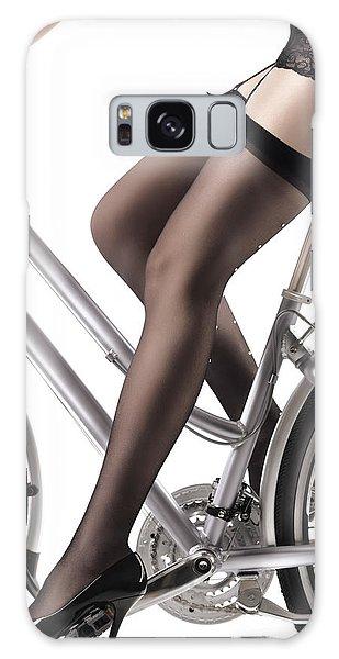 Sexy Woman Riding A Bike Galaxy Case