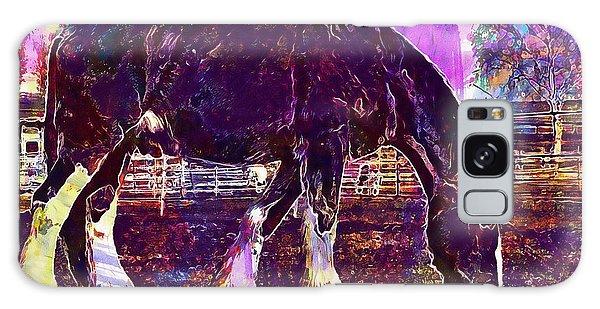 Galaxy Case featuring the digital art Shire Horse Horse Coupling  by PixBreak Art