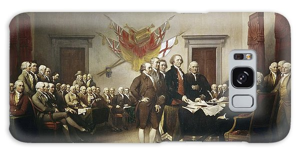 Human Rights Galaxy Case - Signing The Declaration Of Independence by John Trumbull