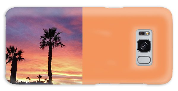 Silhouetted Palm Trees Galaxy Case by Robert Bales