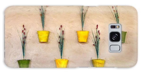 Six Flower Pots On The Wall Galaxy Case