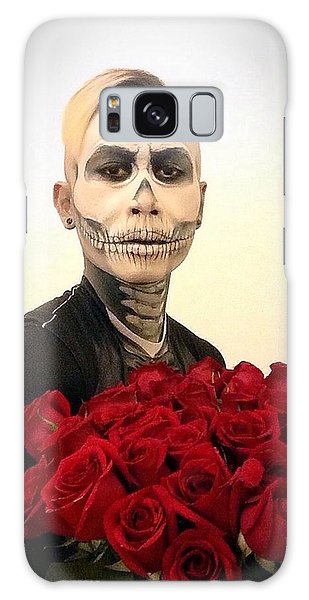 Skull Tux And Roses Galaxy Case by Kent Chua