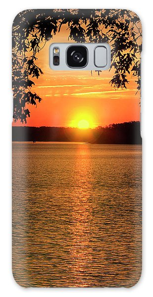 Smith Mountain Lake Silhouette Sunset Galaxy Case