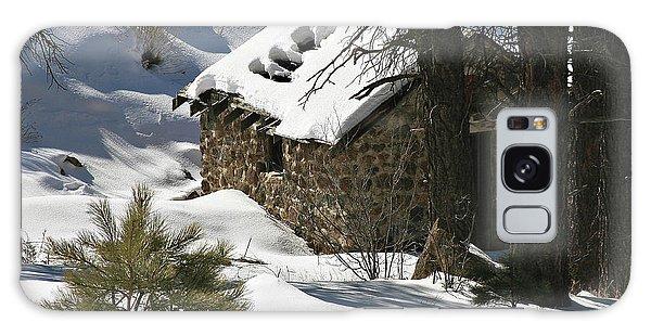 Snow Cabin Galaxy Case