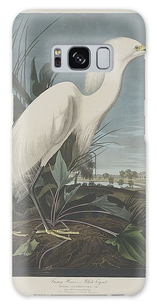 Ibis Galaxy S8 Case - Snowy Heron Or White Egret by Dreyer Wildlife Print Collections