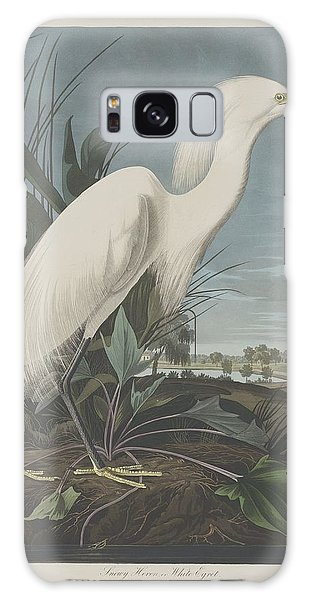 Engraving Galaxy Case - Snowy Heron Or White Egret by Dreyer Wildlife Print Collections