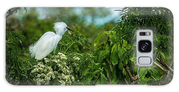 Egret Galaxy Case - Snowy by Marvin Spates