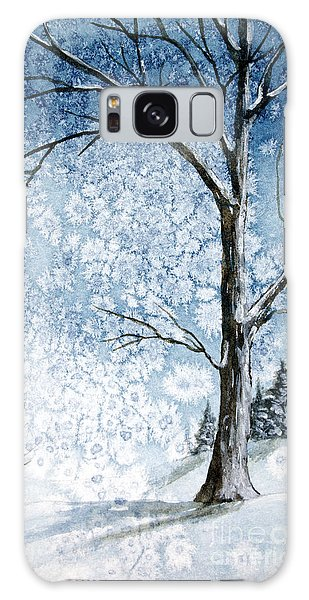 Snowy Night Galaxy Case by Rebecca Davis