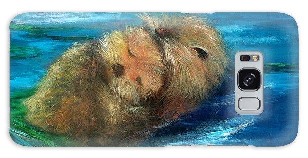 Otter Galaxy Case - Snuggling by Sally Seago