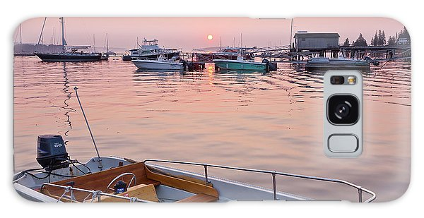 Southwest Harbor Sunrise Galaxy Case by Susan Cole Kelly