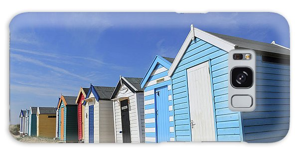 Southwold Beach Huts Galaxy Case