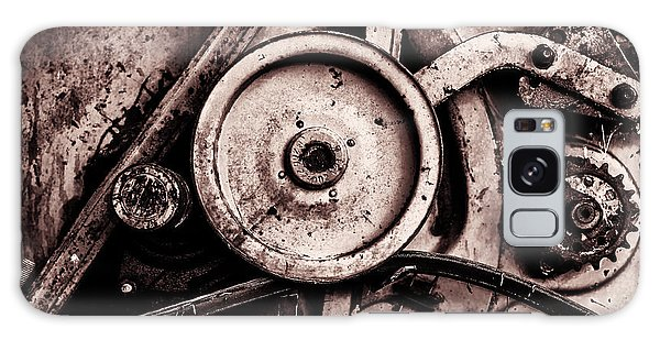 Soviet Ussr Combine Harvester Abstract Cogs In Monochrome Galaxy Case by John Williams