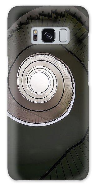 Spiral Staircase In Brown Tones Galaxy Case by Jaroslaw Blaminsky