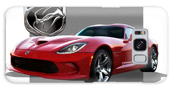 Automotive Galaxy Case - S R T  Viper With  3 D  Badge  by Serge Averbukh