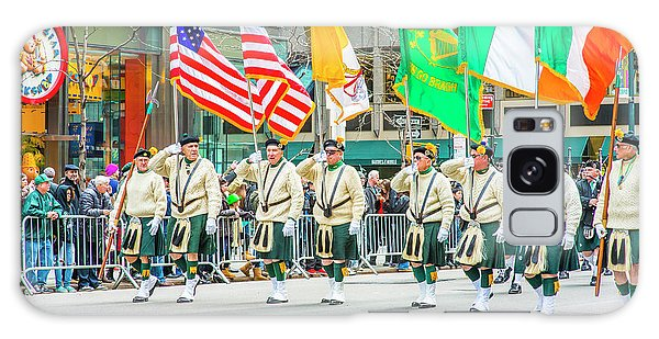 St. Patrick Day Parade In New York Galaxy Case
