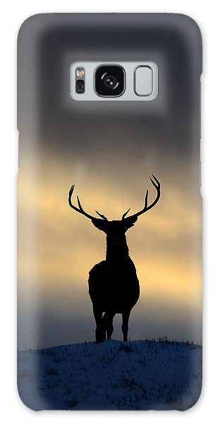 Stag Silhouette  Galaxy Case