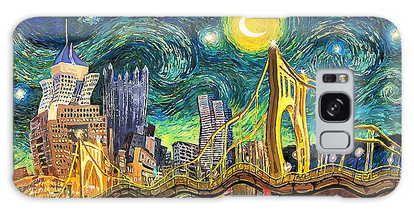 Starry Night In Pittsburgh Galaxy Case