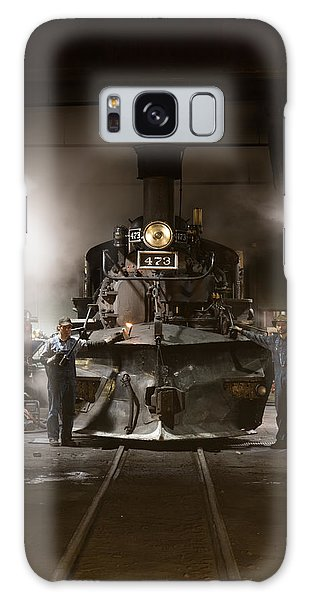 Steam Locomotive In The Roundhouse Of The Durango And Silverton Narrow Gauge Railroad In Durango Galaxy Case by Carol M Highsmith