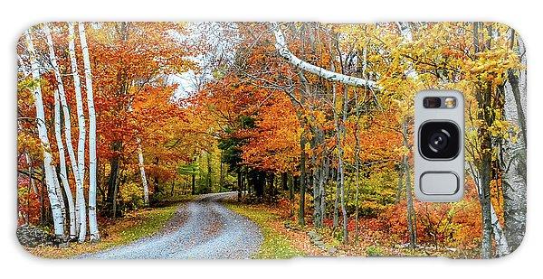 Wellsboro Galaxy Case - Stone Autumn Road by Krystal Billett