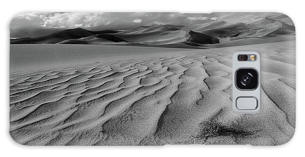 Storm Over Sand Dunes Galaxy Case