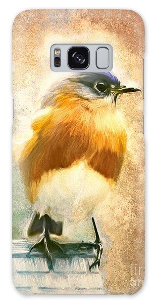 Strapping Bluebird Galaxy Case by Tina LeCour