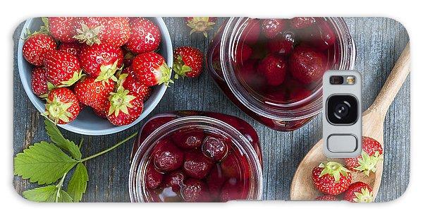 Strawberry Preserve Galaxy Case by Elena Elisseeva