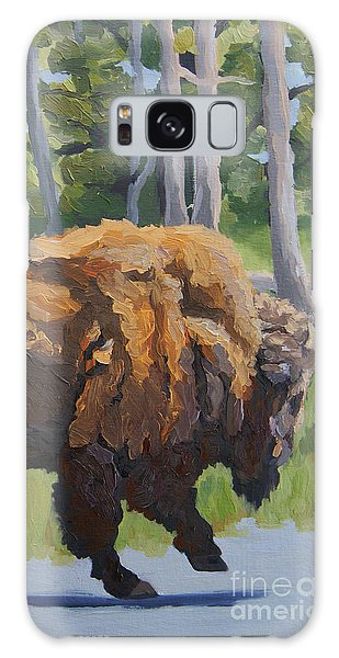 Galaxy Case featuring the painting Strutting Along, Yellowstone by Erin Fickert-Rowland